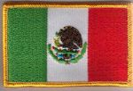 Mexico Embroidered Flag Patch, style 08.